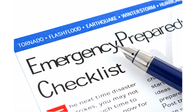 home emergency checklist