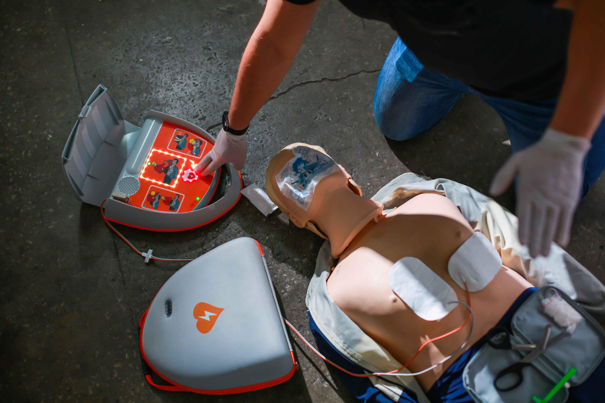 Low cost AEDs and accessories for sale in Newark from Heartsine, Physio Control, Philips, Cardiac Science, Zoll and Defibtech.