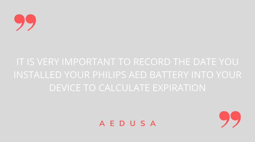 Date Battery is Installed philips