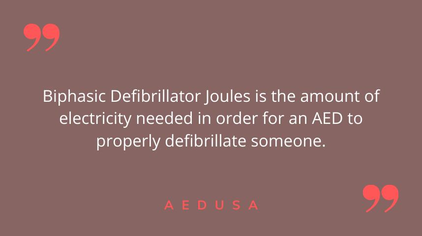 Biphasic Defibrillator Joules