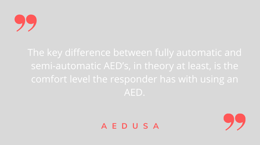 Fully Automatic or Semi-Automatic AED
