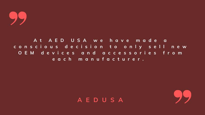New Versus Refurbished AED's