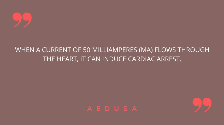 A shock can cause cardiac arrest