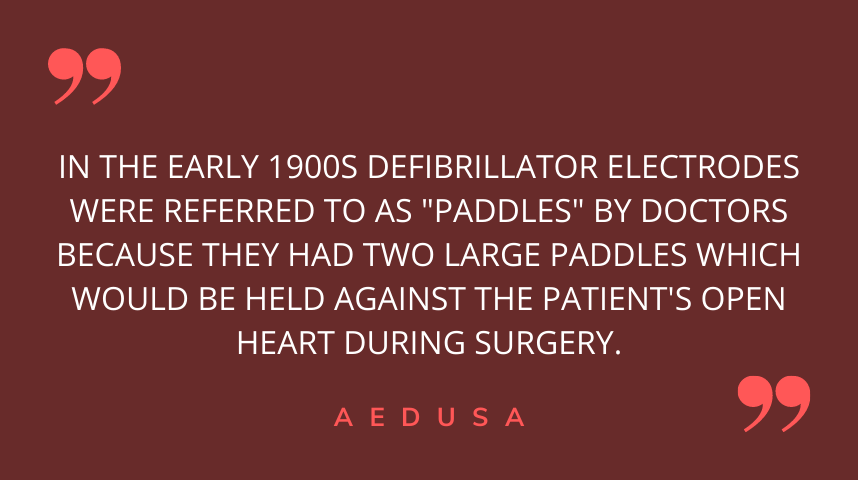 Why Are AED Electrodes Called paddles?